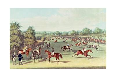 Epsom: Preparing to Start, 1830 Giclee Print by James Pollard