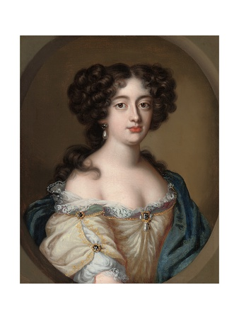 Portrait of a Lady Traditionally Identified as Ortensia Mancini Giclée-Druck von Jacob Ferdinand Voet