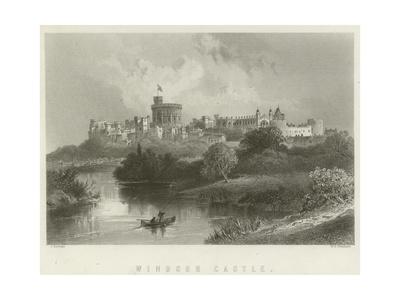 Windsor Castle Giclee Print by J Ramage