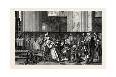 Salon of 1855. Belgian School. the Trentaines De Bertal De Haze, Giclee Print by Jan August Hendrik Leys