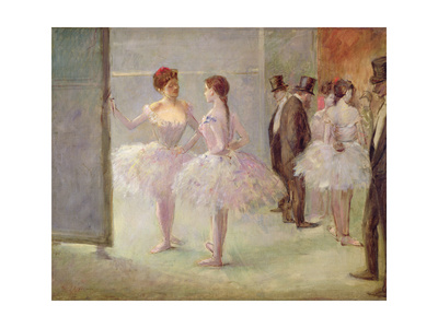 Dancers in the Wings at the Opera, C.1900 Giclee Print by Jean Louis Forain