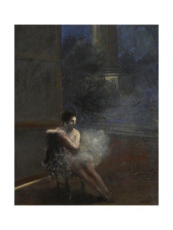Seated Dancer Giclee Print by Jean Louis Forain