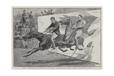The Gymkhana Meeting at the Ranelagh Club, the Obstacle Race Giclee Print by John Charlton