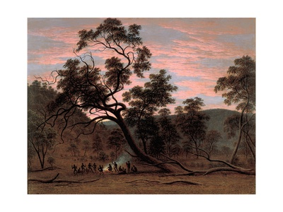 A Corrobery of Natives in Mill's Plains, 1832 Giclee Print by John Glover