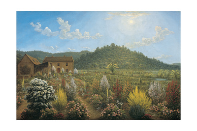 A View of the Artist's House and Garden, in Mills Plains, Van Diemen's Land, 1835 Giclee Print by John Glover