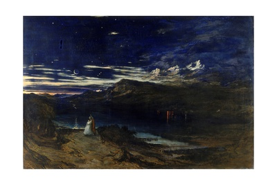Arthur and Aegle in the Happy Valley, 1849 Giclee Print by John Martin
