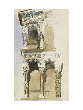 Part of the Façade of the Destroyed Church of San Michele in Foro Giclee Print by John Ruskin