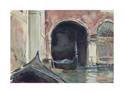 Venetian Canal Giclee Print by John Singer Sargent