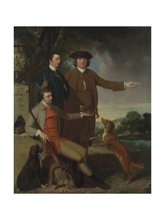 Self Portrait with Father and Brother, C.1760-62 Giclee Print by John Hamilton Mortimer