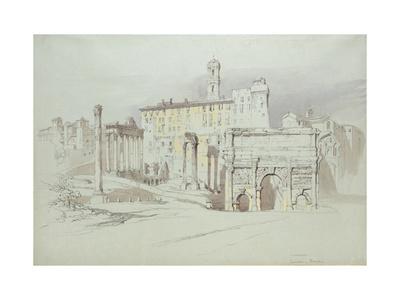 A Window of the Palazzo Tolomei Giclee Print by John Ruskin