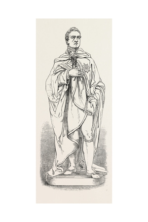 Marble Statue of the Late Marquis of Londonderry, K.G. Giclee Print by John Thomas