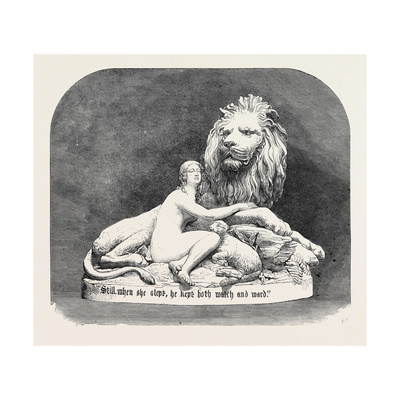 Una and the Lion in Metal, the International Exhibition 1862 Giclee Print by John Thomas