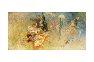 The Masked Ball Giclee Print by Jules Chéret