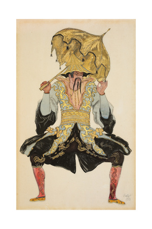 The Chinese Mandarin, Costume Design for 'Sleeping Beauty', 1921 (Pencil, W/C and Gouache) Giclee Print by Leon Bakst