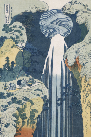Amida Waterfall on the Kiso Highway' Giclee Print by Katsushika Hokusai