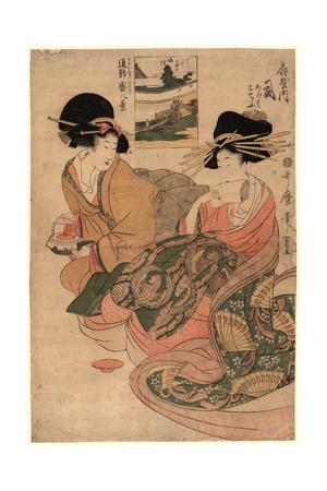 Ogiyauchi Tsukasa Giclee Print by Kitagawa Utamaro