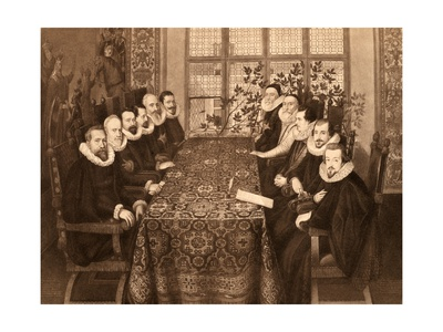 Conference of 18th August Giclee Print by Marcus Gheeraerts The Younger