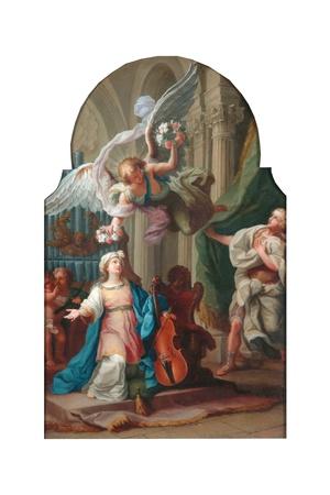St Cecilia Giclee Print by Luigi Vanvitelli