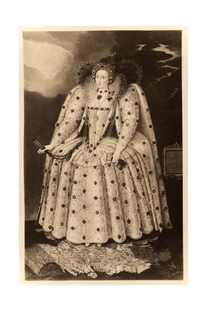 Queen Elizabeth I ('The Ditchley Portrait') Giclee Print by Marcus Gheeraerts The Younger