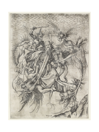 The Tribulations of St Anthony Giclee Print by Martin Schongauer