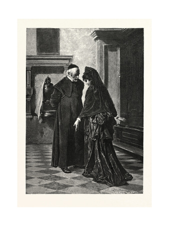 The Confession Giclee Print by Ludwig Passini