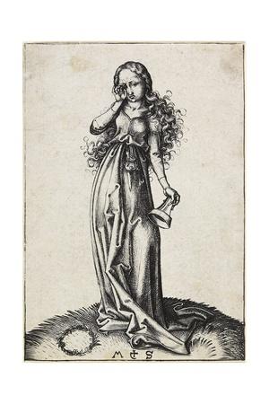 The Third Foolish Virgin, C. 1480-1488 Giclee Print by Martin Schongauer