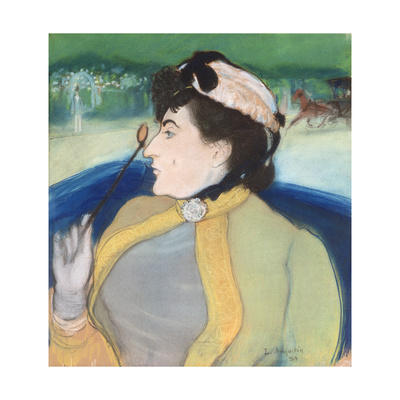 Woman in a Barouche, 1889 Giclee Print by Louis Anquetin