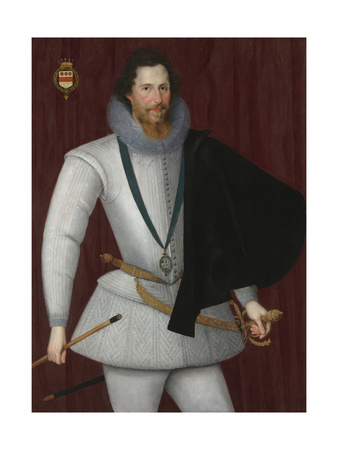 Portrait of Robert Devereux, 2nd Earl of Essex Giclee Print by Marcus Gheeraerts The Younger