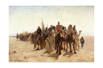 Pilgrims Going to Mecca; Pelerins Allant a La Mecque, 1890 Giclee Print by Louis Comfort Tiffany