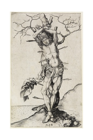 Saint Sebastian, C. 1480-1490 Giclee Print by Martin Schongauer