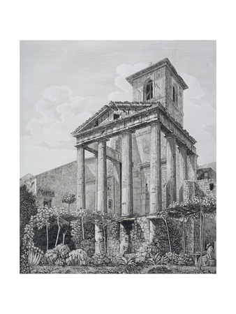 Temple of Hercules at Cora Giclee Print by Luigi Rossini