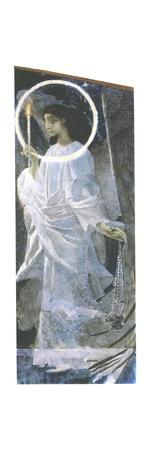 Angel with a Candle, 1887 Giclée-Druck von Mikhail Aleksandrovich Vrubel