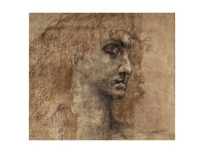 Head of an Angel, 1887 Giclée-Druck von Mikhail Aleksandrovich Vrubel