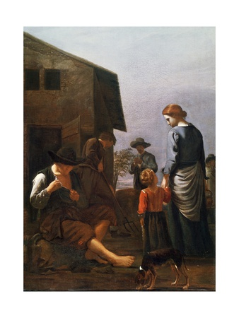 Peasant Family, with Man Removing Fleas from Himself, 1656-1660 Giclee Print by Michael Sweerts