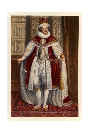 King James I of England and VI of Scotland Giclee Print by Paul van Somer