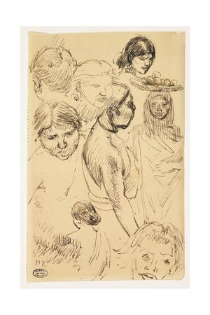 Studies of Women Giclee Print by Paul Albert Besnard