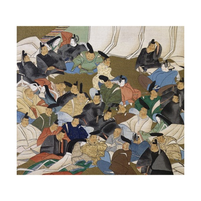 36 Poets, Painting on Paper by Ogata Korin (1658-1716), Japan, Edo Period, 17th-18th Century Giclee Print by Ogata Korin