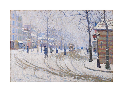 Snow, Boulevard De Clichy, Paris, 1886 Giclee Print by Paul Signac