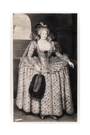 Queen Anne of Denmark Giclee Print by Paul van Somer