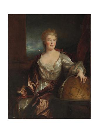 Portrait of Gabrielle Emilie Le Tonnelier De Breteuil, Marquise Du Chatelet Giclee Print by Nicolas de Largilliere