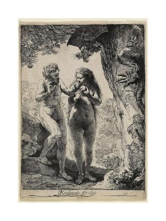 Adam and Eve, 1638-1658 Giclee Print by  Rembrandt van Rijn