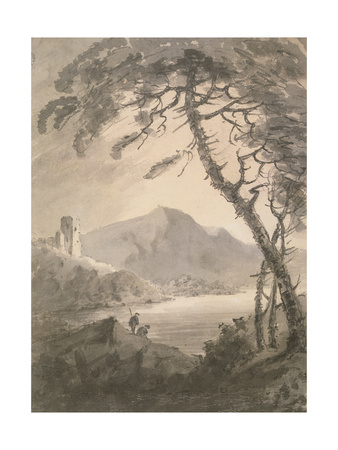 Landscape with Ruined Castle Giclee Print by Rev. William Gilpin