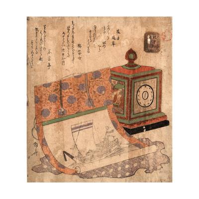 Tokei to Takarabune No Kakejiku Giclee Print by Ryuryukyo Shinsai