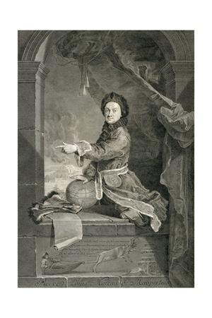 Portrait of Pierre Louis Moreau De Maupertuis (Saint-Malo Giclee Print by Robert Tournieres