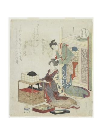 Yellow of Boxwood Comb, C. 1820 Giclee Print by Ryuryukyo Shinsai