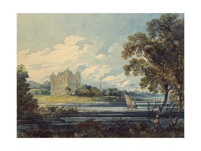 Duff House, Banff, 1794 (Watercolour, with Some Scratching Out, over Indications in Graphite) Giclee Print by Thomas Girtin