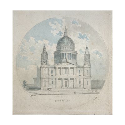 St Paul's Cathedral, C.1790 Giclee Print by Thomas Girtin