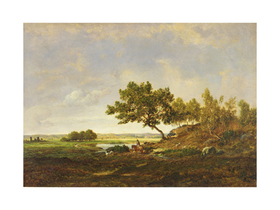 The Pond at the Foot of the Hill, C.1848-55 Giclee Print by Theodore Rousseau