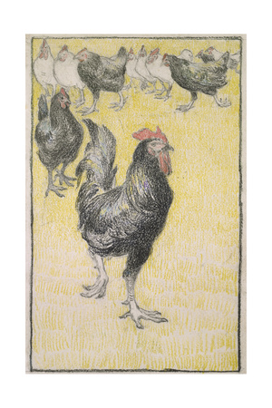 Cockerel Giclee Print by Theophile Alexandre Steinlen