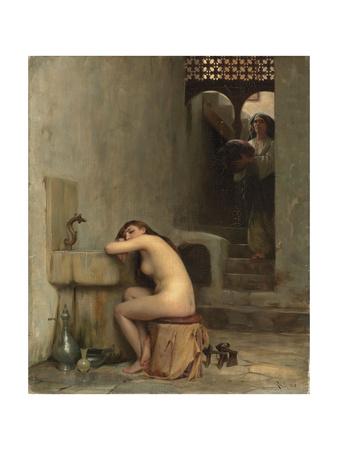 Repos Au Bain, 1888 Giclee Print by Theodore Jacques Ralli